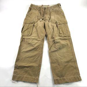 Abercrombie & Fitch Cargo Pants Beige Khaki 34